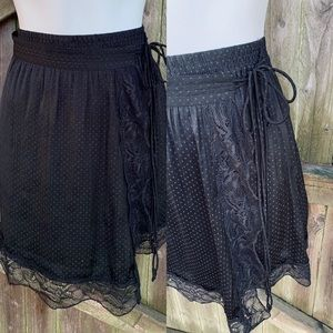 Free People black lace skirt SP